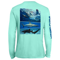 GEO Sharks Pattern UV Performance Mint