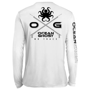 Crossed Speargun UV Performance White