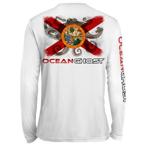 Florida Flag Octopus UV Performance White
