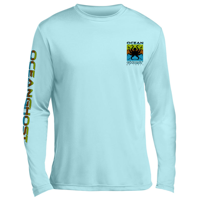 Surfboards Color Block UV Performance Sky Blue