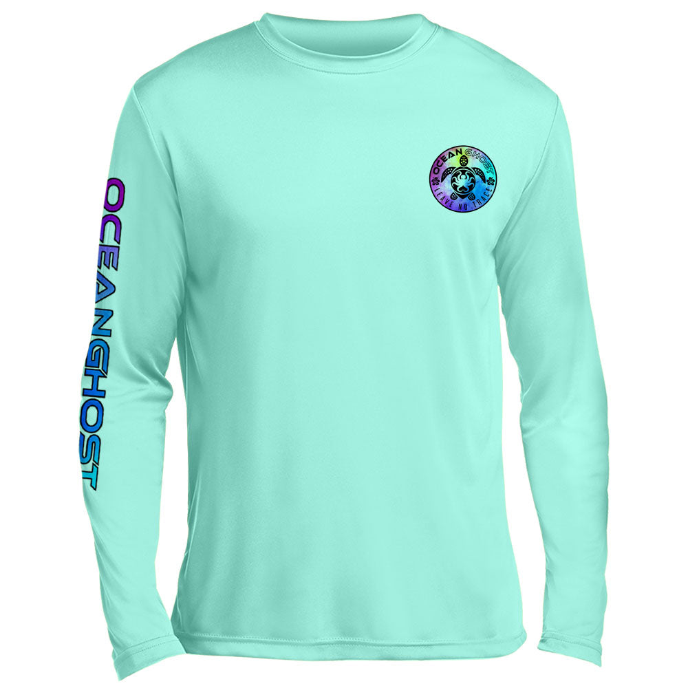 Tie Dye Turtle UV Performance Mint