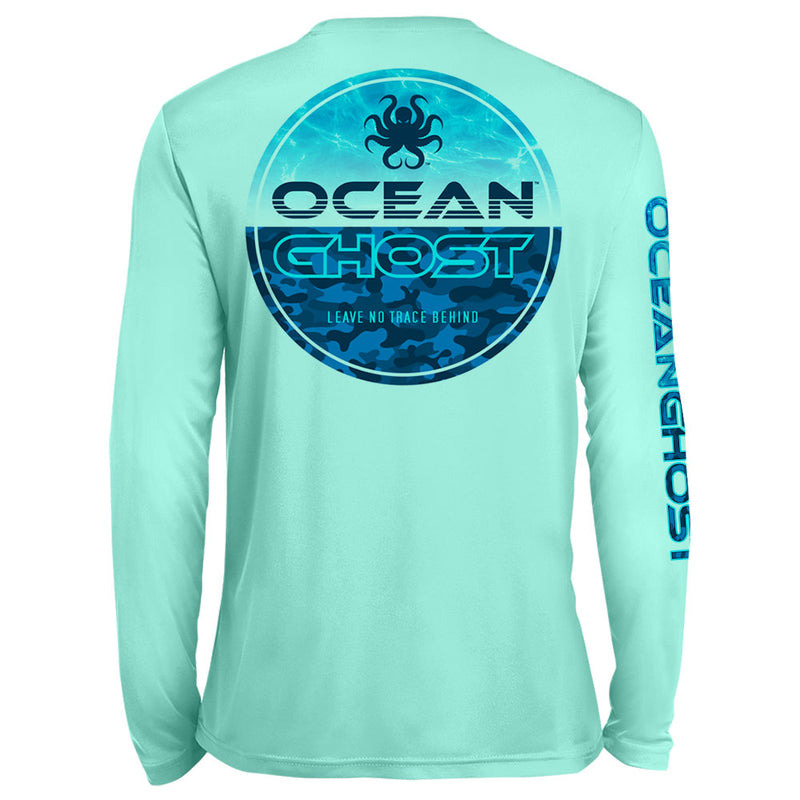 Water Camo UV Performance Mint Green