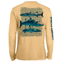 Barracuda Repeat Pattern UV Performance Peach
