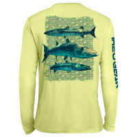 Barracuda Repeat Pattern UV Performance Yellow
