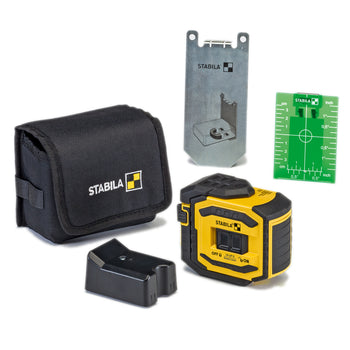 STABILA LA-5P Point Laser Leveling Guidance System with Wall Mount and Belt case