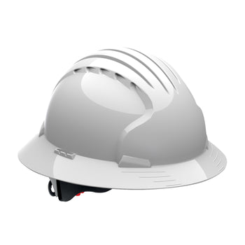 PIP 280-EV6161 - JSP Evolution Deluxe 6 Point Full Brim Mining Hard Hat, Non-Vented