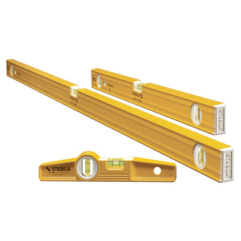 "STABILA 29924 Magnetic Torpedo and Spirit Plate Level Set of 24"", 48"" and 10"""