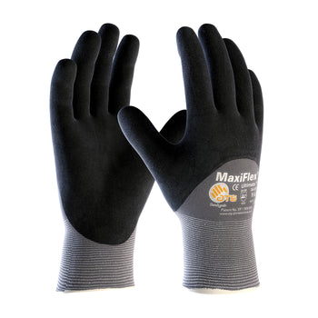 PIP 34-875 - ATG Maxiflex Ultimate Seamless Nitrile Nylon and Lycra Gloves, Gray - 12 Pack