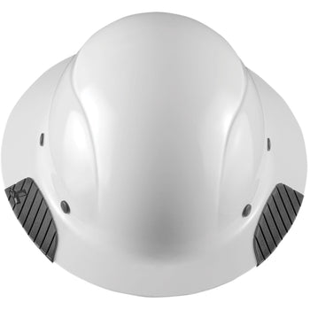 LIFT DAX Full Brim Safety Shock Absorbing Reinforced Hard Hat, White