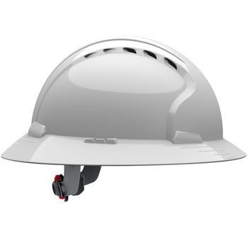 PIP 280-EV6161V - JSP Evolution Deluxe 6 Point Full Brim Hard Hat, Vented