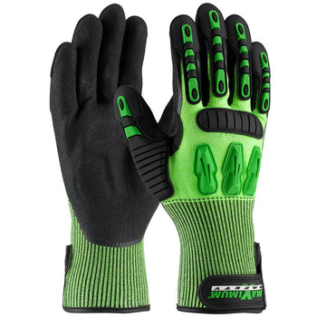 PIP 120-5130 - Maximum Safety TuffMax Hi-Vis HPPE Nitrile Gloves, Green
