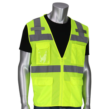 PIP 302-0750 - ANSI Hi-Vis 10 Pocket Surveyors Reflective Safety Vest