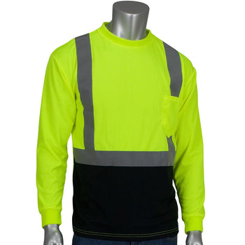PIP 312-1350B - ANSI Hi-Vis Long Sleeve Mesh Safety T-Shirt