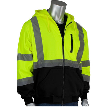 PIP 323-1370B - Hi-Vis Safety Hooded Sweatshirt