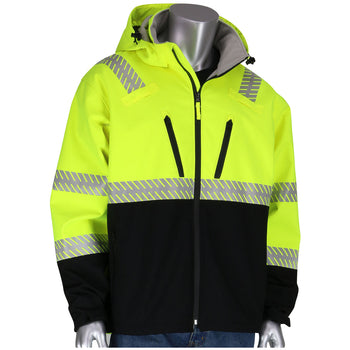 PIP 333-1550 - ANSI Hi-Vis Hooded Reflective Safety Jacket