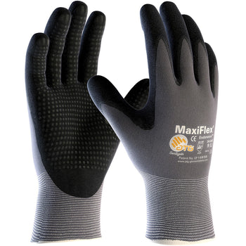 PIP 34-844 - ATG Maxiflex Endurance Seamless Nitrile Nylon Gloves, Gray - 12 Pack