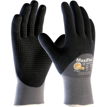 PIP 34-845 - ATG Maxiflex Endurance Seamless Nitrile Nylon Gloves, Gray - 12 Pack