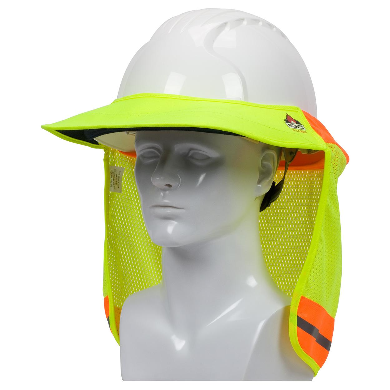 8f48cb832 PIP 396-801 - Hard Hat Hi-Vis FR Hard Hat Neck Sun Shade with Visor
