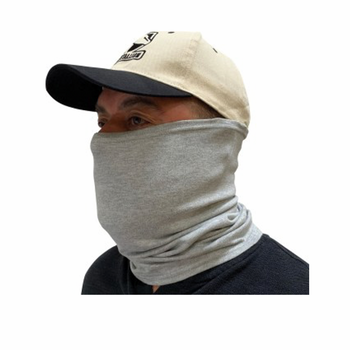 BLACK STALLION AH1565 - Flame-Resistant Cotton Knit Neck Gaiter, Grey