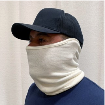 BLACK STALLION AH3560 - Nomex Double Layer Knit Neck Gaiter, White