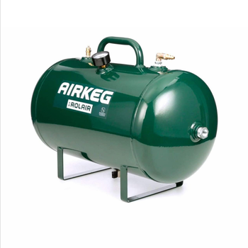 Rolair AIRKEG2 - Heavy Duty 10 Gallon On the Go Lightweight Portable High Performance Steel Auxiliary Air Storage Tank