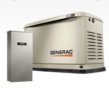 GENERAC 7210- 24kw Guardian Home Backup Generator, Transfer Switch Included