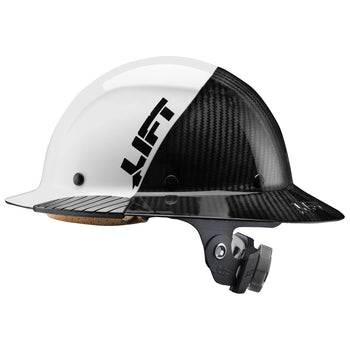 LIFT DAX - Full Brim Carbon Fiber Fifty 50 Hard Hats, HDF50C-19HC, HDF50C-19OC or HDF50C-19WC