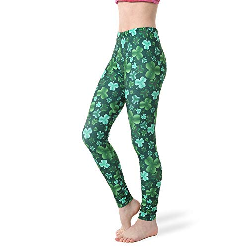 ebb2239db7d3f Alexandra Collection Womens St Patrick'S Day Costume Clover Leggings  Clover Adult Small