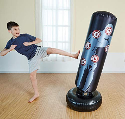 Heavy Duty Kickboxing Inflatable Punching Bag |Interactive
