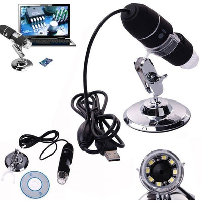 1000X 8 LED 2MP USB Digital Microscope Endoscope Magnifier Camera With Lift Stand