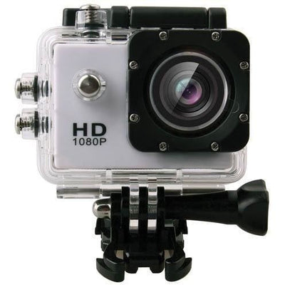 1080P Full HD Sports Action Camera 30M DV Water Resistant with Accessories in White