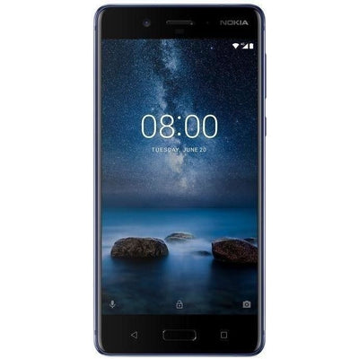 Nokia 8 Dual SIM - 64GB, 4GB RAM, 4G LTE, Polished Blue