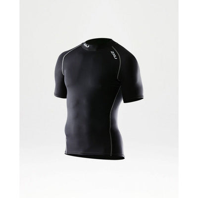 2XU Elite Compression Short Sleeve Top-Black-M-MA1929A Sport Fitness Wear