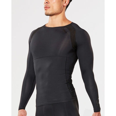 2XU Refresh Recovery Compression Long Sleeve Top-Black/Nero-XL-MA4466a Sport Fitness Wear