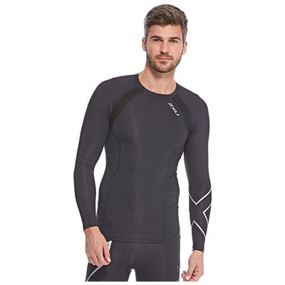 2XU Compression Training Sport Top for Men - Black & Grey