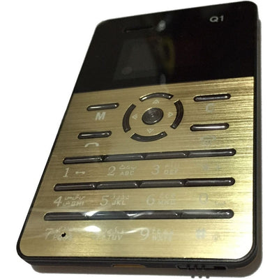 Mini Slim Card Size Mobile, Gold