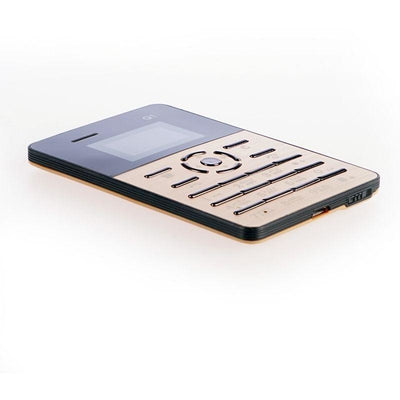Qmart Q1 4.0mm Ultra Slim Mini Pocket Card Phone - Gold