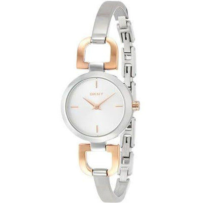 DKNY Women's Silver Dial Stainless Steel Band Watch - NY2137