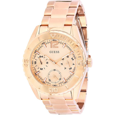 Guess Women's Rose Gold Dial Stainless Steel Band Multifunction Watch - W0633L2