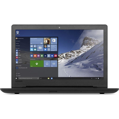 Lenovo Ideapad 110 laptop, Processor intel celeron N3060, 15.6 inch screen, 500 GB HDD, 4GB RAM, Windows 10 Pro, Black
