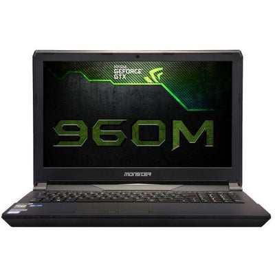 Monster ABRA A7 V6.4 Gaming Laptop - Intel Skylake Core i7-6700HQ + HM170, 17.3 Inch FHD, 1TB HDD+240GB SSD, 16GB RAM, 4GB VGA-GTX-960M, Win 10, Black, Arabic-Eng-KB
