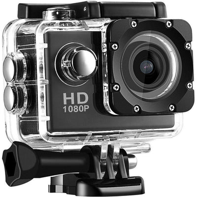 Action Camera,Full HD 1080P Sport Camera 2.0 Inch LCD Display 120 Degree Wide Angle Lens Outdoor Waterproof Camera Recorder