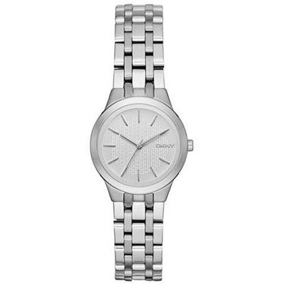 DKNY Slope Women's Silver Dial Stainless Steel Band Watch - NY2490