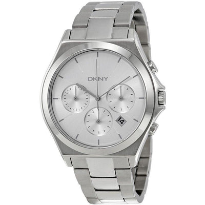 DKNY Parsons Women's Silver Dial Stainless Steel Band Watch - NY2378