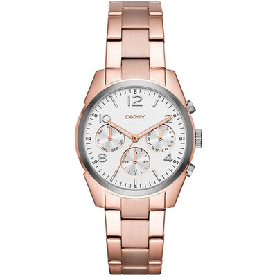 DKNY Crosby Women's White Dial Stainless Steel Band Watch - NY2472