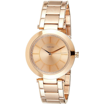 DKNY Women's Rose Gold Dial Stainless Steel Band Watch - NY2287