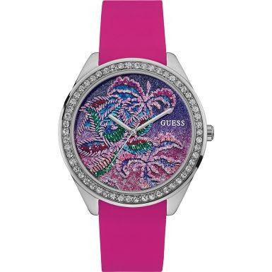 Guess Watch for Women with Silicone Strap, W0960L1
