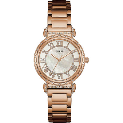 Guess South Hampton Watch for Women - Analog, Stainless Steel Band - W0831L2