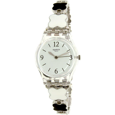 Swatch Women's White Dial Stainless Steel Band Watch - LK367G