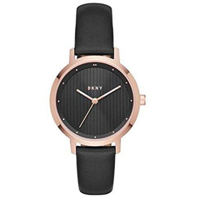 DKNY Women Black Dial Leather Band Watch - NY2641